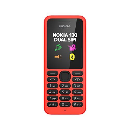 Nokia 130 Telefono Cellulare, Rosso [Italia]