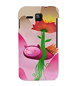 PrintVisa Cute Modern Art Design 3D Hard Polycarbonate Designer Back Case Cover for Micromax Bolt S301