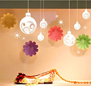 Outdoor large christmas ball shop window wall art for Outdoor christmas wall decorations