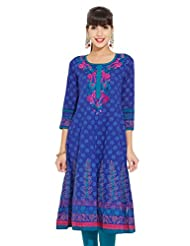 LOVELY LADY Ladies Cotton Solid KURTI