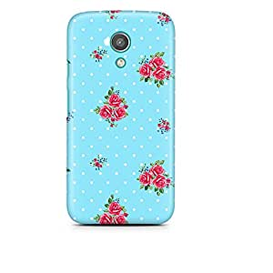 Motivatebox - Moto X Back Cover - Flower spots pattern Polycarbonate 3D Hard case protective back cover. Premium Quality designer Printed 3D Matte finish hard case back cover.