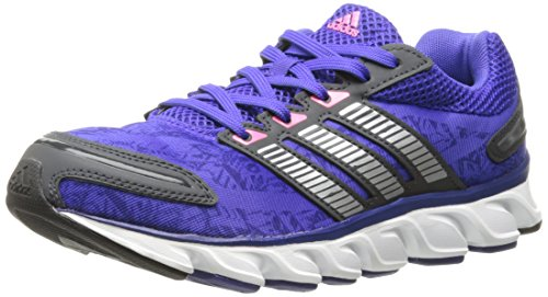 adidas Performance Women's Powerblaze W Running Shoe, Night Flash/Metallic/Silver/Neon Pink, 7.5 M US