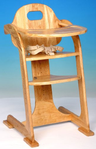 edler kinder hochstuhl aus holz mit essbrett tiamo ean 8713291106000. Black Bedroom Furniture Sets. Home Design Ideas