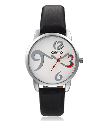 Calvino Calvino Women's White Dial Watch CLAS-1512-OPN-369_BLK-WHT (Multicolor)