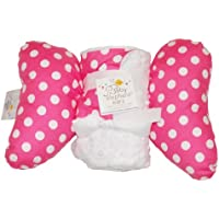 Baby Elephant Ears Head Support Pillow & Matching Blanket Gift Set (Pink Dot)