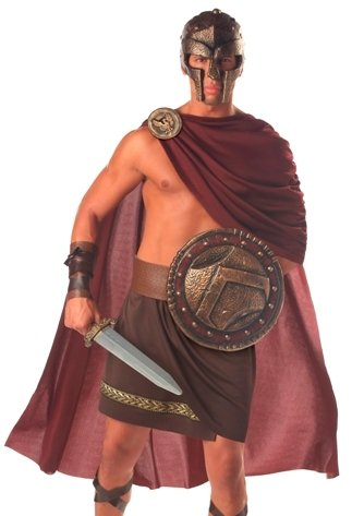 Mens Adult Greek Spartan Warrior Halloween Costume