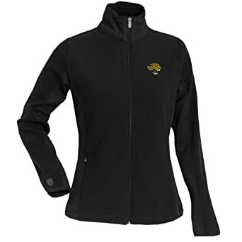 NFL Ladies Jacksonville Jaguars Sleet Micro Fleece Sweatshirt by Antigua