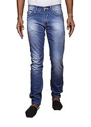 John Wills Men's Slim Fit Jeans (MCR1019--38, Blue, 38)