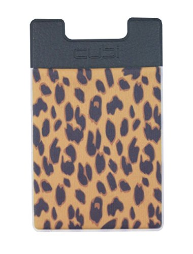 CardNinja Ultra-slim Self Adhesive Credit Card Wallet for Smartphones, Gold Cheetah (Card Ninja Iphone compare prices)