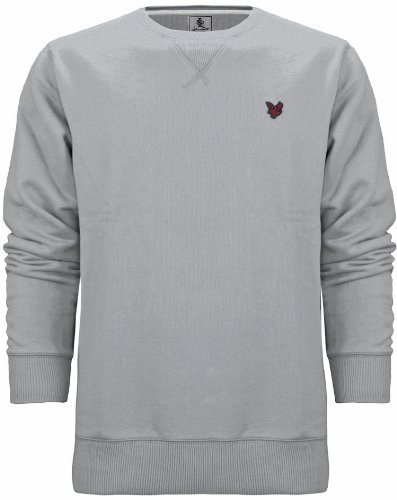 Lyle & Scott Heritage Men's Cotton Sweatshirt Jumper Light Grey Marl (XL)