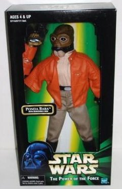 "Star Wars Power of the Force 12"" Ponda Baba Figure with Removable Arm"
