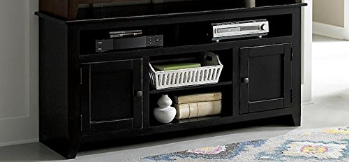 58 in. Entertainment Cabinet in Black Finish