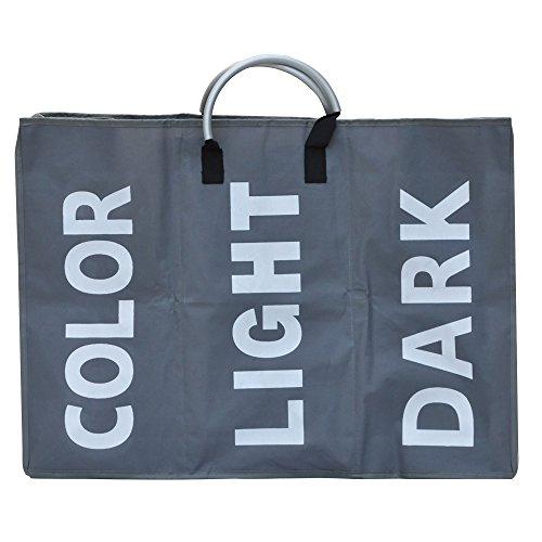 tinxs-grey-large-laundry-bag-basket-bathroom-storage-washing-hamper-bin-with-3-section-santa-secret