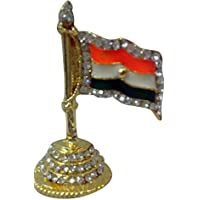 Made With Gold Plated Diamond Meena Work National Flag Of India Work By Bharat Haat BH00336