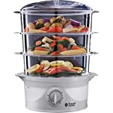 Russell Hobbs 21140 3-Tier Food Steamer, 9 Litre, 800 Watt