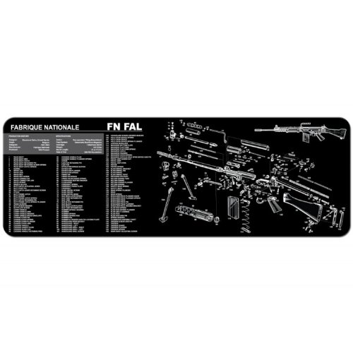 TekMat 12-Inch X 36-Inch Long Gun Cleaning Mat with FN FAL I