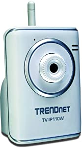 TRENDnet SecurView Wireless Internet Surveillance Camera TV-IP110W (Silver)