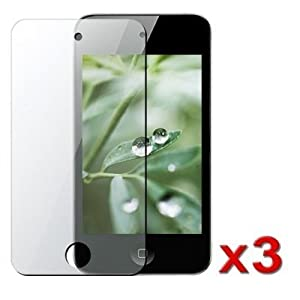 (3 Pack) LCD Screen Guards / Protectors for Apple iPod Touch 4 / 4G / 4th Gen [TheOEMPlanet TITAN Packaging]