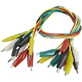 10 Pcs Colorful Insulating Alligator Clip Test Lead Cable 45cm 1.5 Ft
