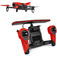 Parrot BeBop 14MP Full HD 1080p Fisheye Camera Drone with SkyController Bundle (Red)