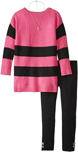 Derek Heart Big Girls' Long Sleeve Striped Sweater