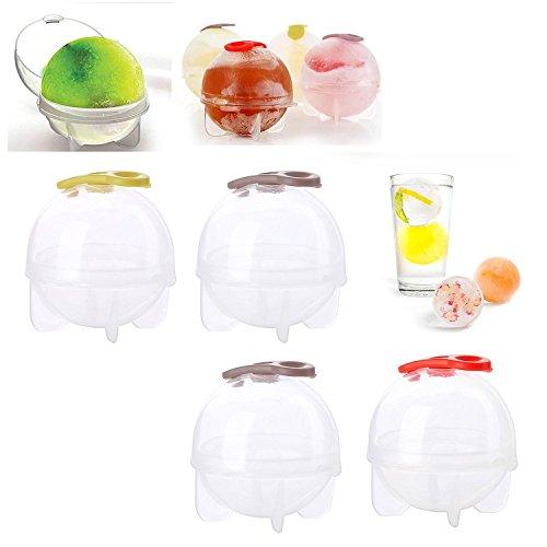 Boules de Glace Fabricant Plateau 4 Grand Sphère Moules Cube Whisky Cocktail Bar, Transparent