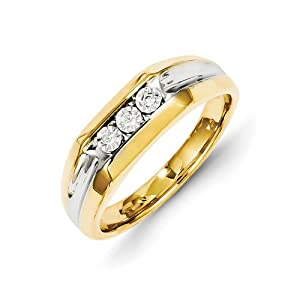 14k Rough Diamond Mens Ring - JewelryWeb