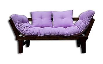 Sofa bed Sesamo-Wenge, Violet Futon, 200x82x32 cm