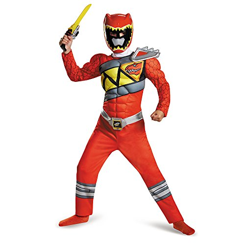 Red Ranger Dino Charge Classic Muscle Costume for Kids