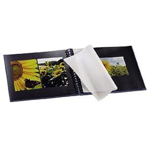 Hama Fotoalbum Fine Art, 50 schwarze Seiten (25 Blatt), Spiralalbum 28 x 24 cm, mit Ausschnitt für