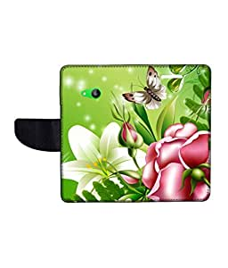 KolorEdge Printed Flip Cover For Microsoft Lumia 535 -Multicolor (50KeMLogo11019Lumia535)