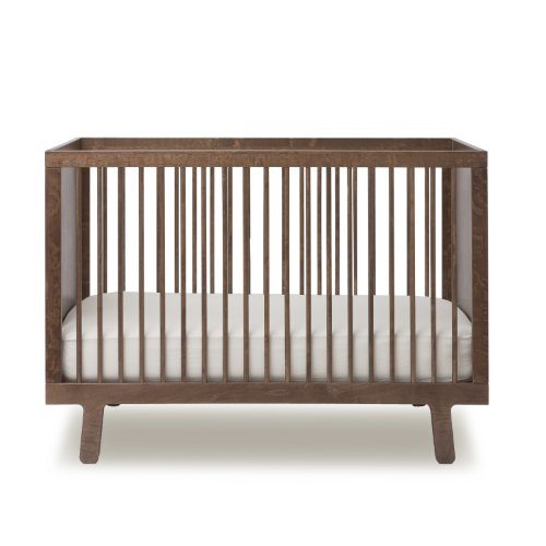 Oeuf Sparrow Crib In Walnut, Walnut