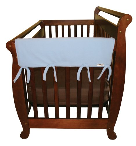 Trend-Lab-Fleece-CribWrap-Rail-Covers-for-Crib-Sides-Set-of-2-Blue-Wide-for-Crib-Rails-Measuring-up-to-18-Around