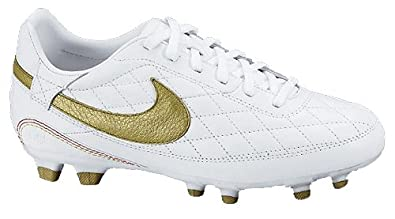 Nike 10r O Cara Fg Youth - White with Gold
