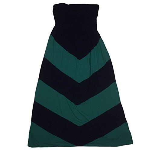 Design History Womens Strapless Maxi Dress Small Navy/Green