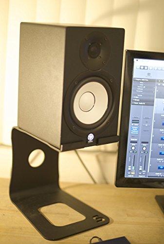 Soundrise Professional Desktop Speaker Stands Black Pair