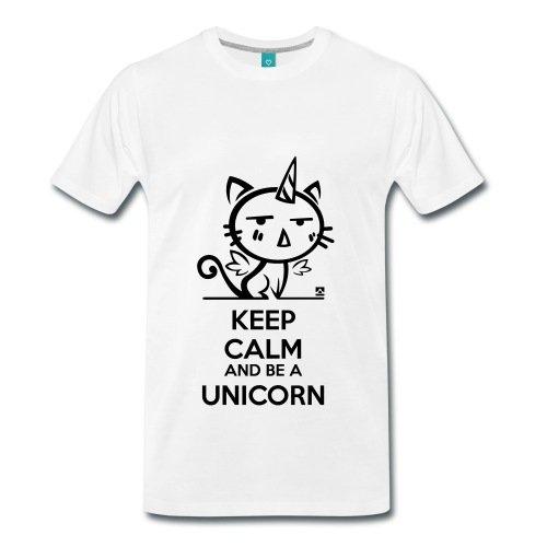Chat-Licorne-Keep-Calm-T-shirt-Premium-Homme-de-Spreadshirt