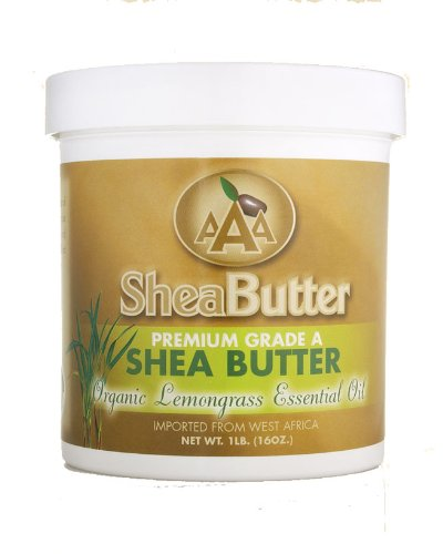 16oz Certified Grade A Shea Butter with Lemongrass essential oils (455g)