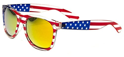 Classic American Patriot Flag Wayfarer Style Sunglasses USA Flag