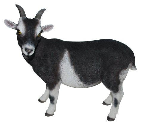 Goat Figure - for Home & Garden - lifelike - 29 x 14 x 27cm - multi-coloured