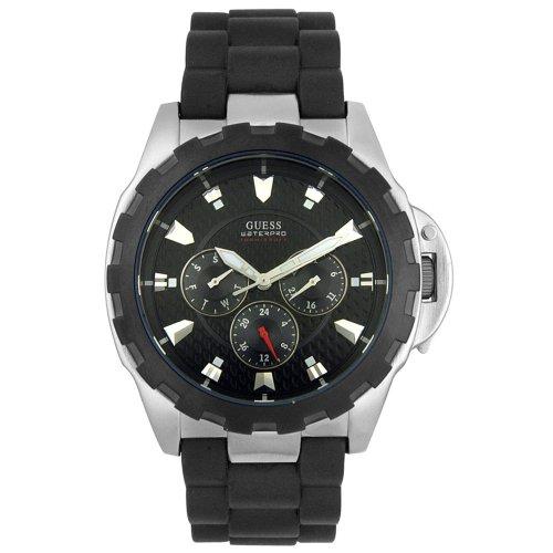 GUESS Men's Black Rubber Chronograph Watch #U90002G1 - Buy GUESS Men's Black Rubber Chronograph Watch #U90002G1 - Purchase GUESS Men's Black Rubber Chronograph Watch #U90002G1 (GUESS, Jewelry, Categories, Watches, Men's Watches, Casual Watches, Rubber Banded)