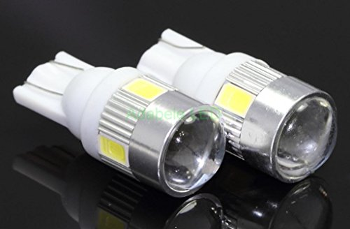 New 2 Bulbs T10 Samsung Projector 6 Led Light Bulbs Auto Replacement Lighting White Super Bright Car Light Bulb 194 168 2825 W5W 147 152 158, 159, 161 184 192 193 2881 Compare To Sylvania Osram Phillips L185-70