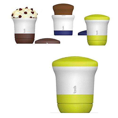 Aubecq Tools - Minute Cake, mug cake pour gâteau minute avec poussoir (vert)