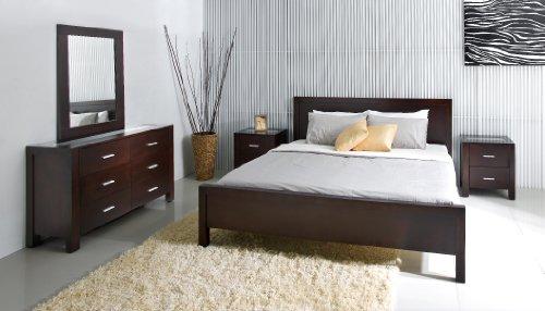 Hamptons 5 piece Queen Bedroom Set (Cappucino Veneer Finish) (41''H x 62''W x 85''D)
