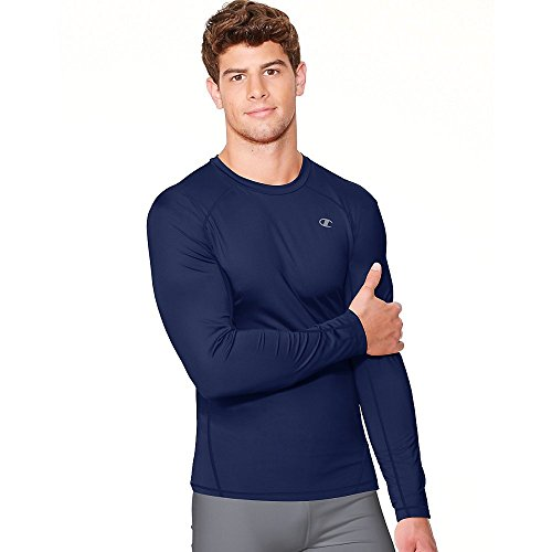 Champion Vapor Mens Long Sleeve T-Shirt_Navy_S