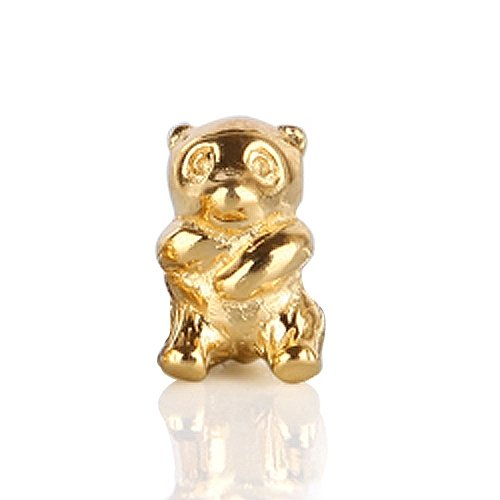 Bling Jewelry Panda Bear Gold Vermeil 925 Sterling Silver Animal Bead Pandora Chamilia Troll Compatible