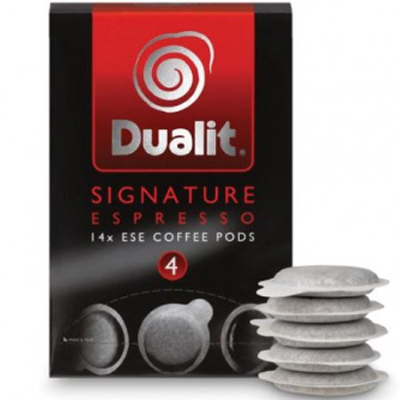 Shop for Dualit Signature Espresso Blend Coffee Pods (Pack of 14) from Dualit