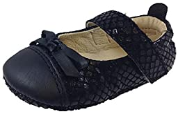 Old Soles Kid\'s 097 Black Leather Sassy Style Ballet Flat 20 M EU/4 M US Toddler