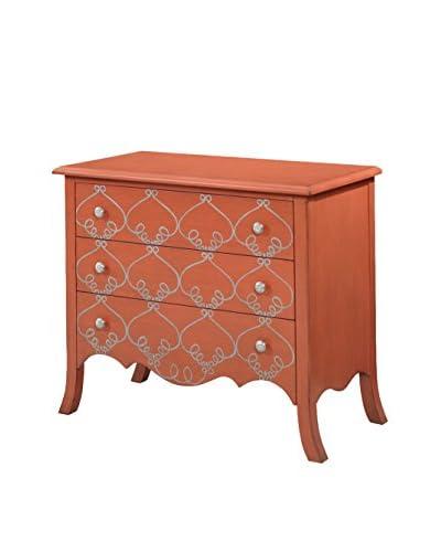 Bassett Mirror Company L'Orangerie Chest, Tangerine