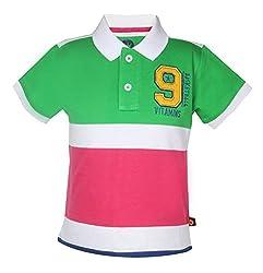 Vitamins Baby Boys' T-Shirt (08Tb-446-1-P.Green_Light Green_1 - 2 Years)